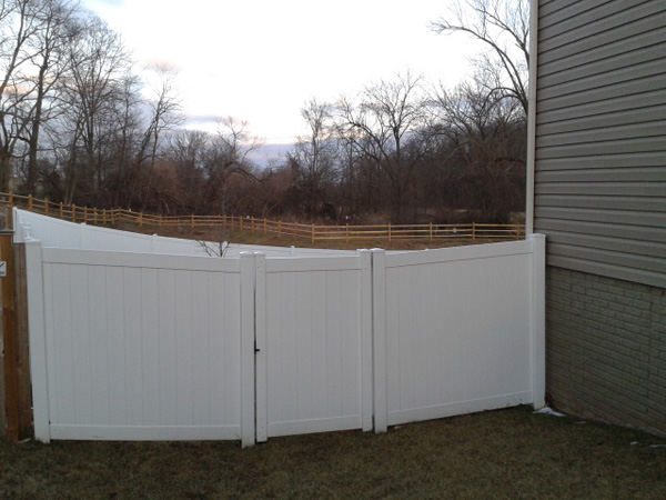 Vinyl fence installation in frederick county albaugh sons