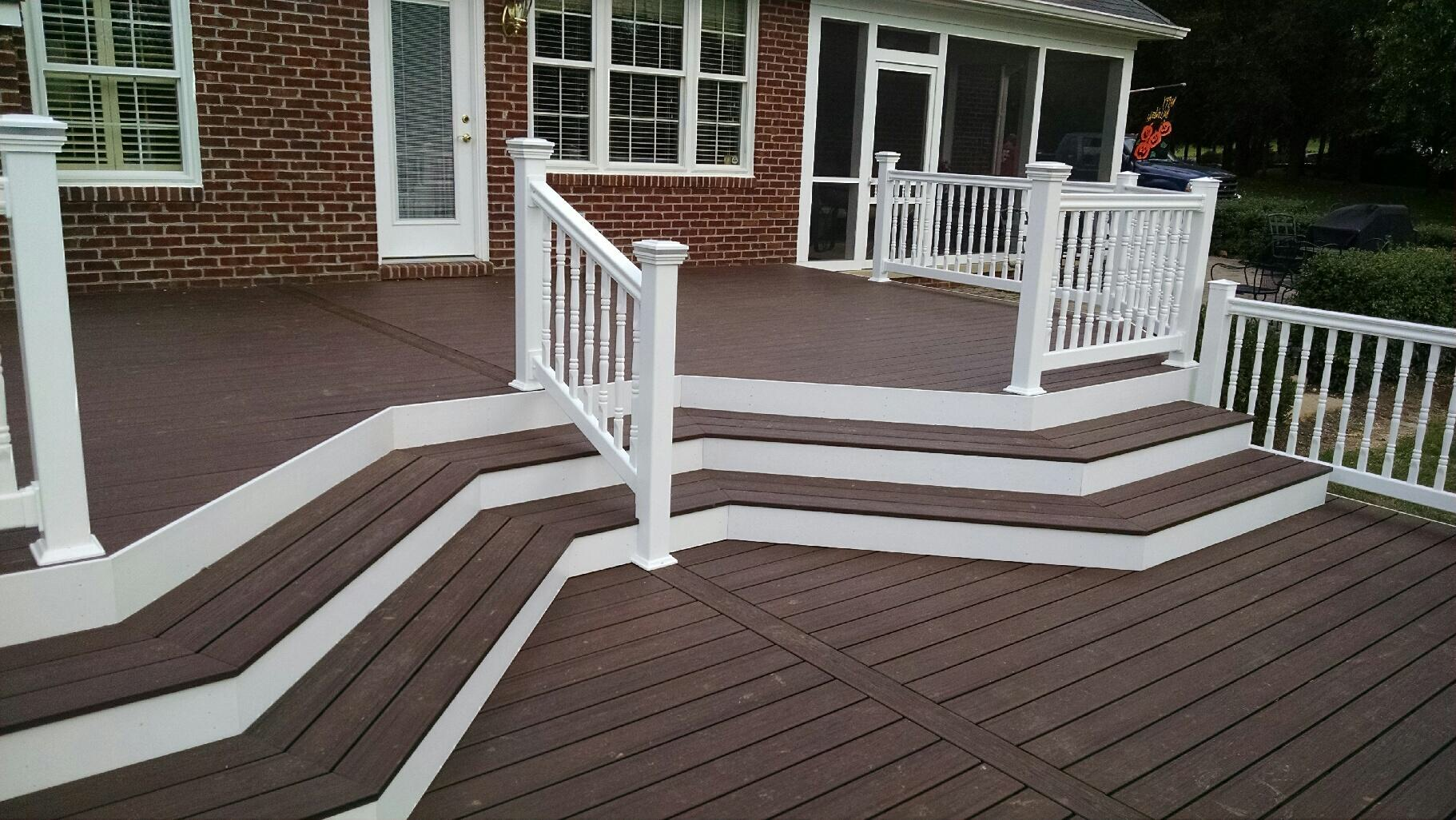 Azek composite deck builder in frederick maryland for Composite deck railing
