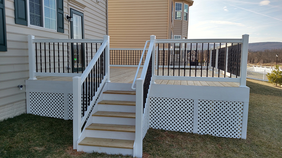 install a vinyl handrail on your deck for added safety albaugh sons