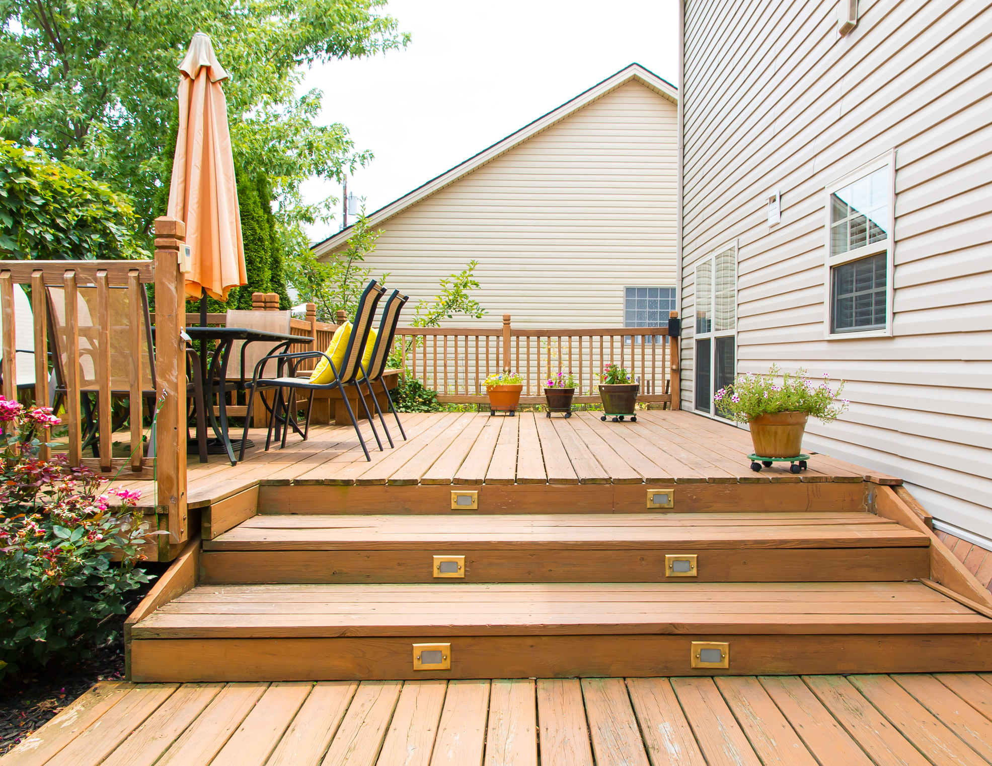 Deck Installation: Adding Steps To An Existing Deck ...